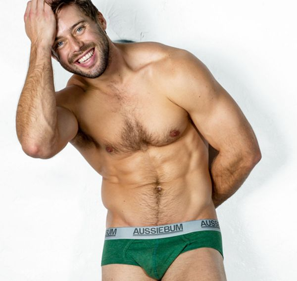 aussieBum Brief COTTONTOUCH MARLE, green