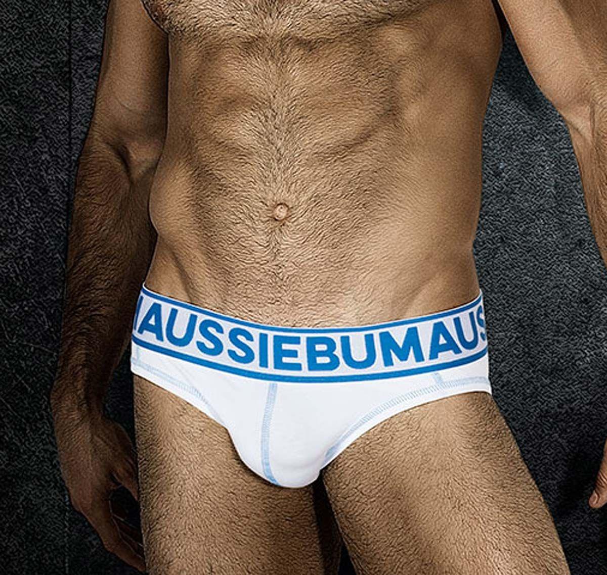 aussieBum Slip FLASHR, weiß-blau