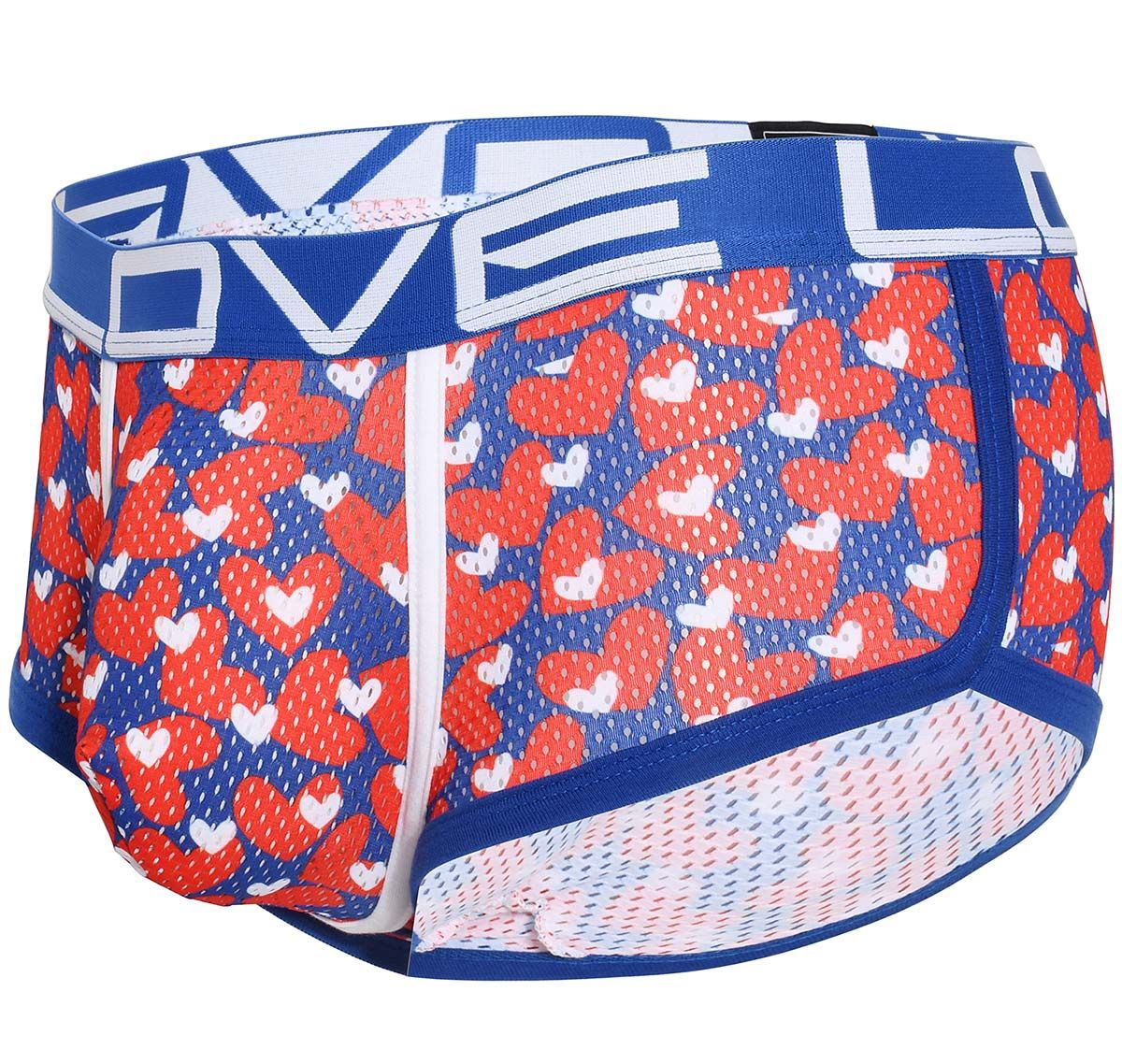 Andrew Christian Bóxer LOVE SWEETHEART MESH BOXER with ALMOST NAKED 91542, multicolor