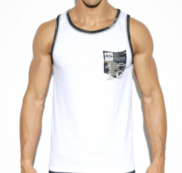 ES Collection TANK TOP CAMO POCKET TS202, weiß