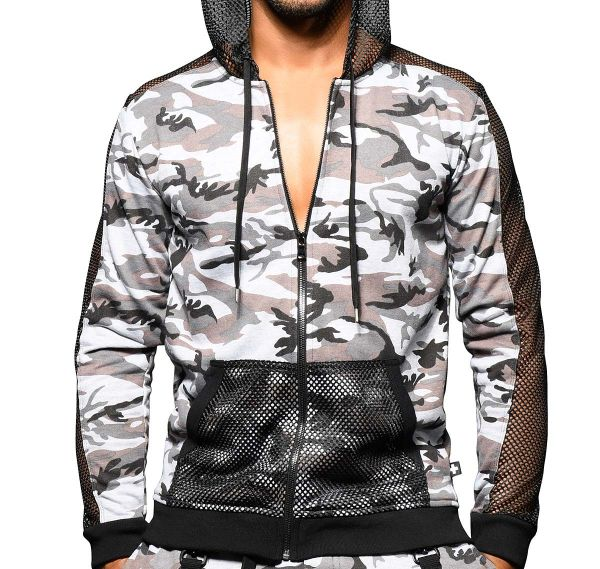 Andrew Christian Jacket TROOP MESH HOODIE 5150, multicolor