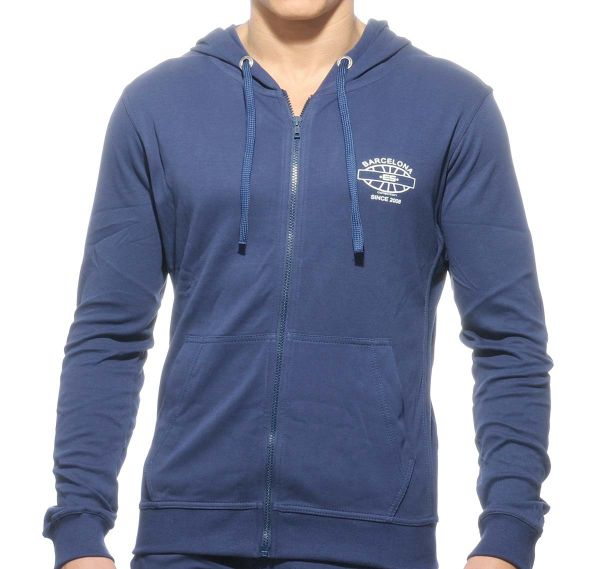 ES Collection Sportjacke DETAILED POCKET HOODY SP073, navyblau