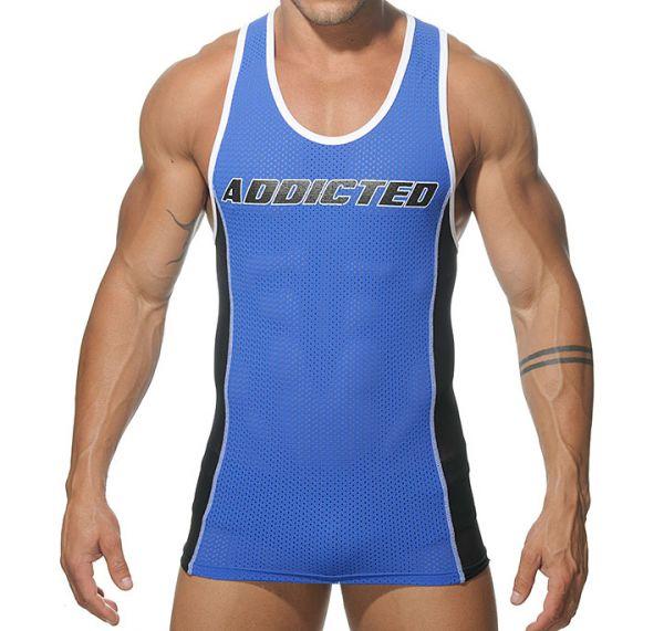Addicted Sportshirt Tank Top T-Shirt royal blau