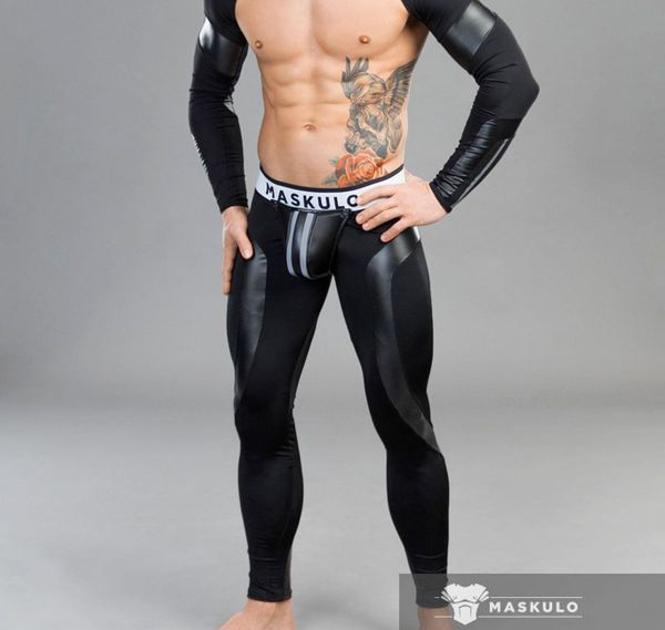 MASKULO Fetish Leggings YOUNGERO. LG31-90, schwarz