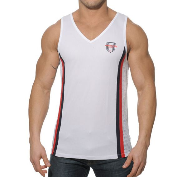 Addicted Sportshirt Loose Fitting Tank Top weiss