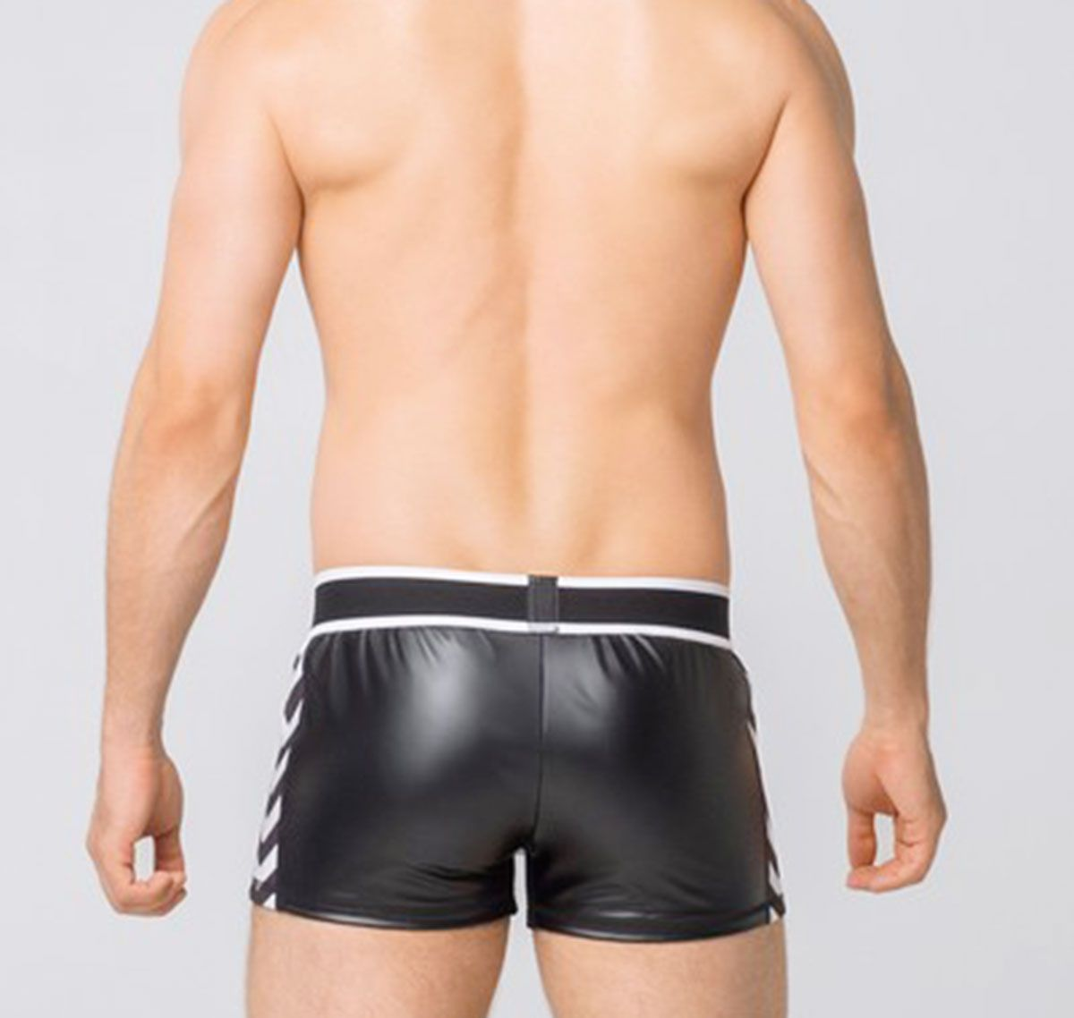MASKULO Pantaloncini corti Fetish SKULLA MEN`S FETISH LEATHERETTE SHORTS. SH075-80, bianco