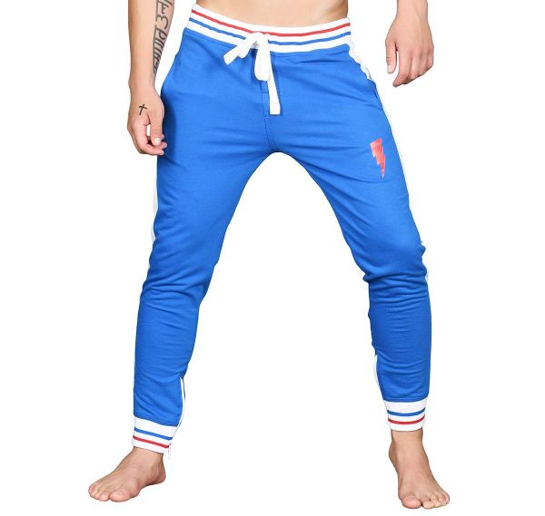 Andrew Christian lange Sporthose SUPERHERO LIGHTNING TRAINING PANTS 4140, blau