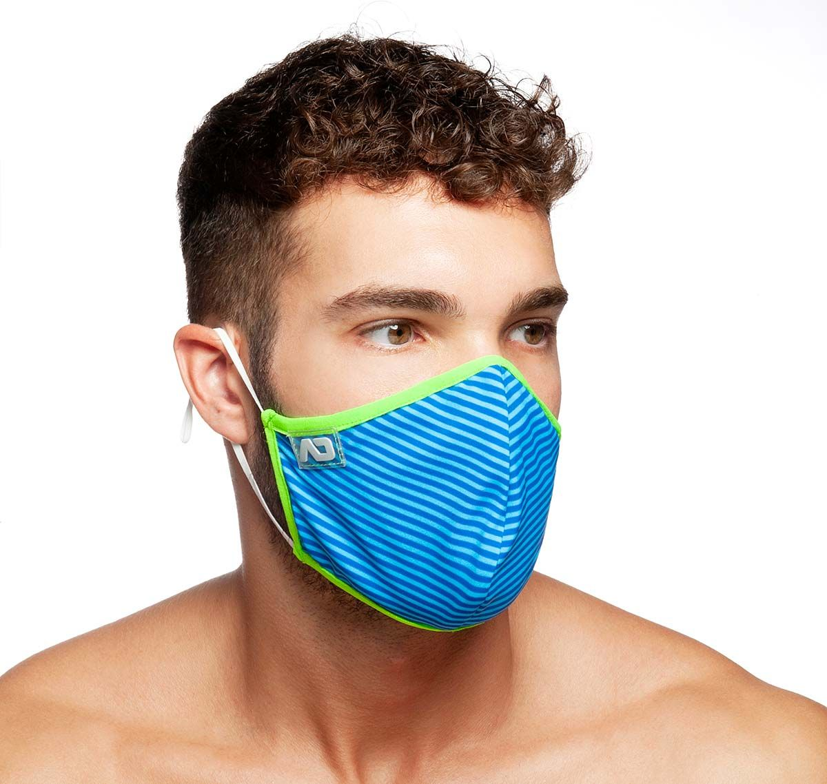 ADDICTED Masque facial STRIPES COMBI MASK AC115, bleu royal
