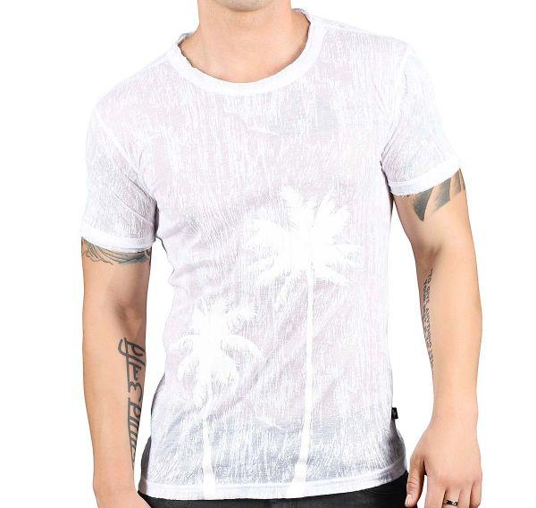 Andrew Christian T-Shirt GLISTEN PALM TEE 10259, weiß