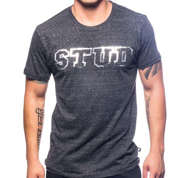 Andrew Christian T-Shirt STUD TEE 10216, grau schwarz