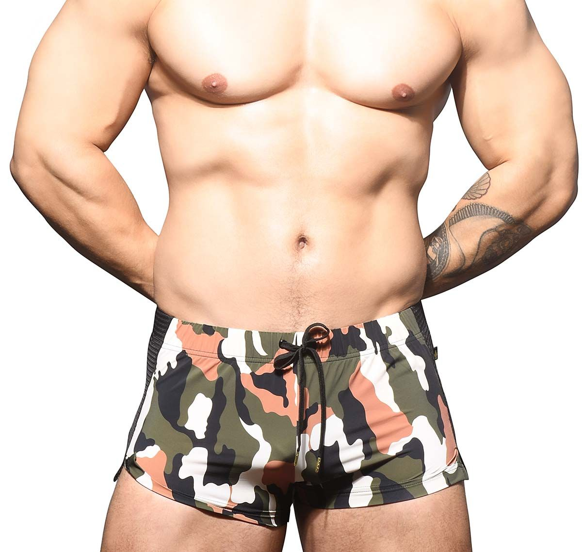 Andrew Christian Short deportivo CAMOUFLAGE MESH JOGGER SHORTS 6598, army