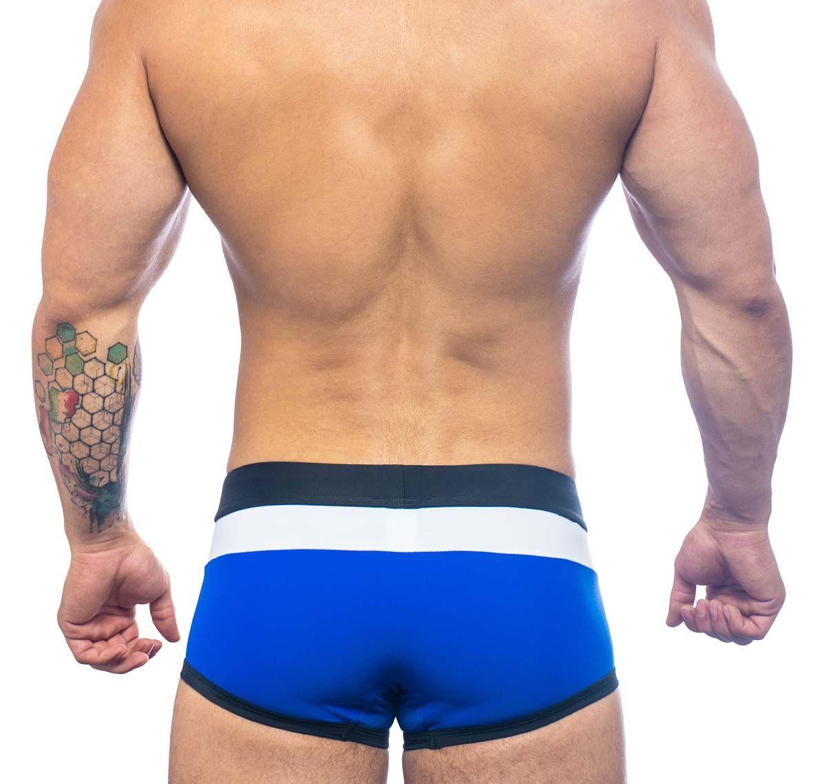 Andrew Christian Maillot de bain BREAKWATER TRUNK 7633, royal/blanc/bleu