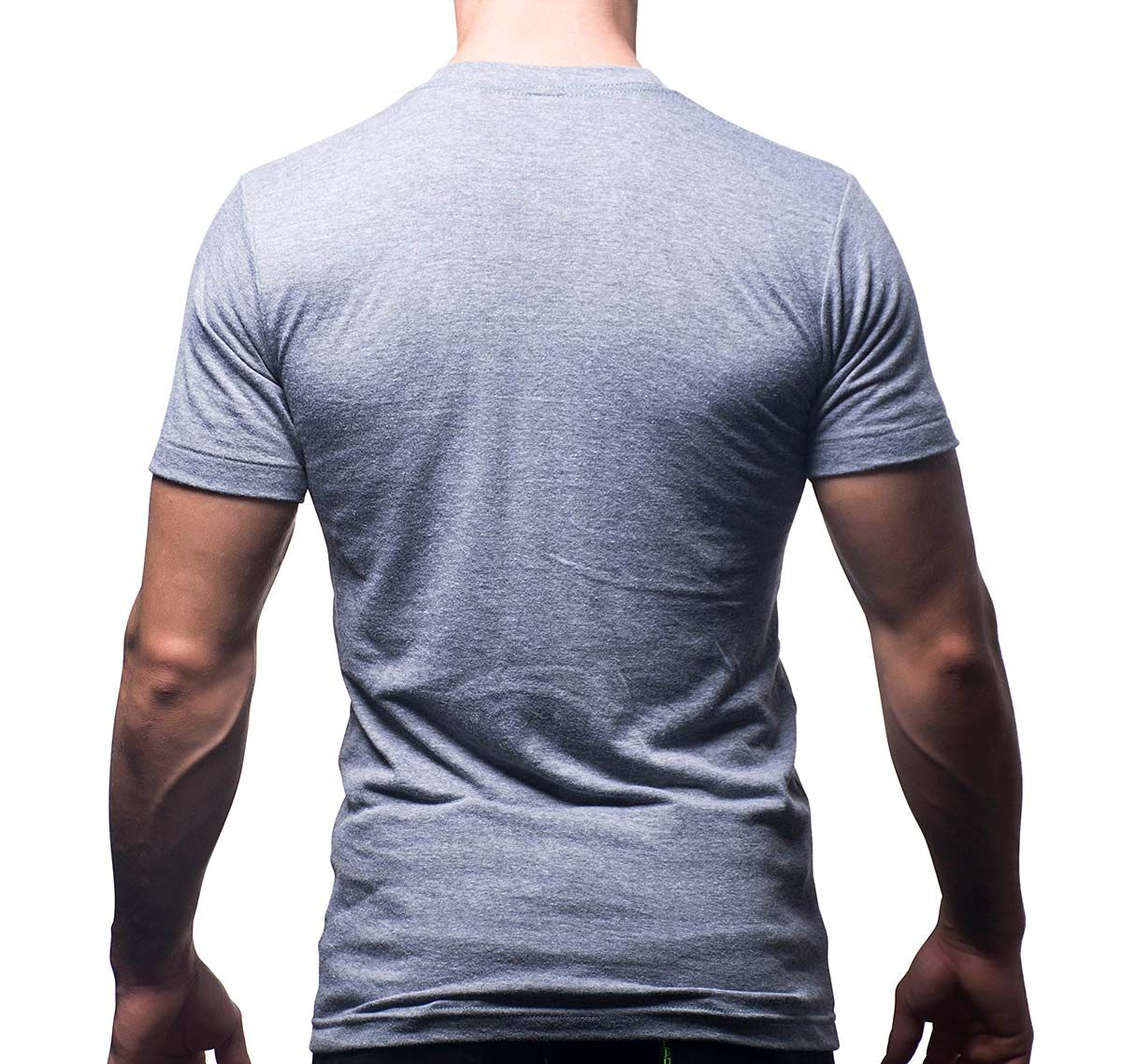 Andrew Christian T-Shirt COCK EMBROIDERED TEE 10186, grau