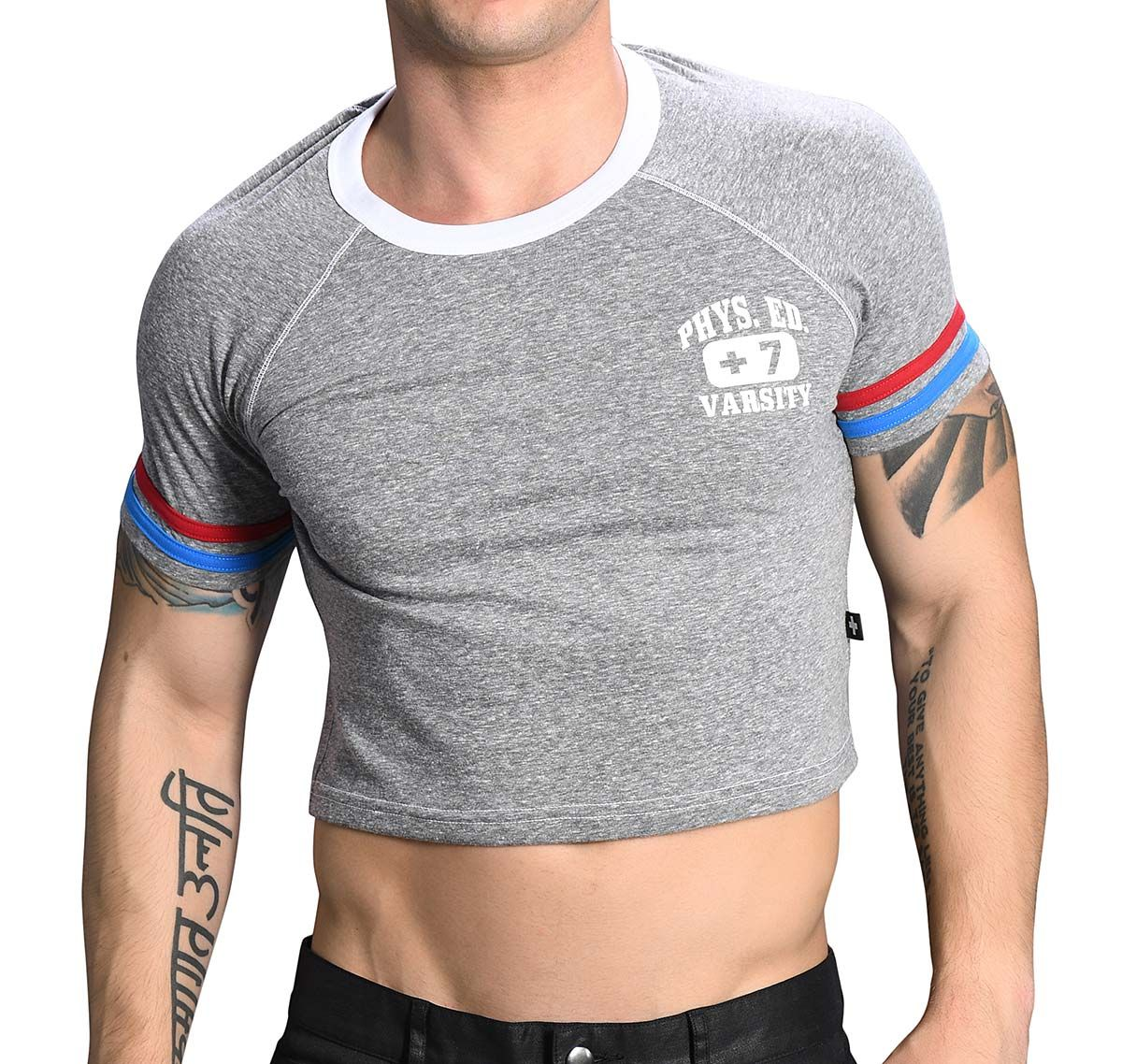 Andrew Christian T-shirt PHYS. ED. CROPPED TEE 10267, grey