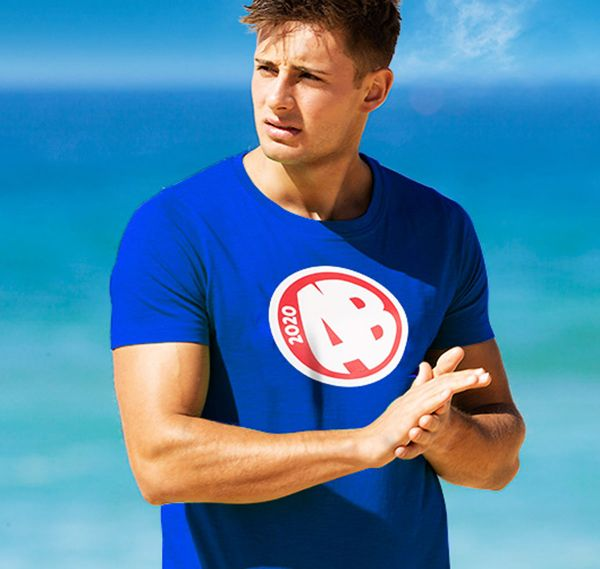 aussieBum T-Shirt DESIGNER TEE AB, blau