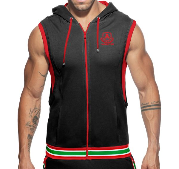 Addicted Sportjacke ZIP COTTON HOODY AD334, schwarz