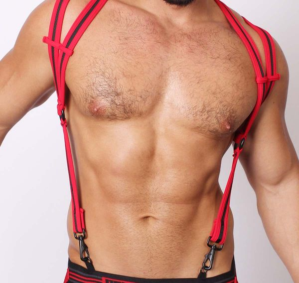 Cellblock 13 Harness SPIDER NEOPRENE HARNESS, rot