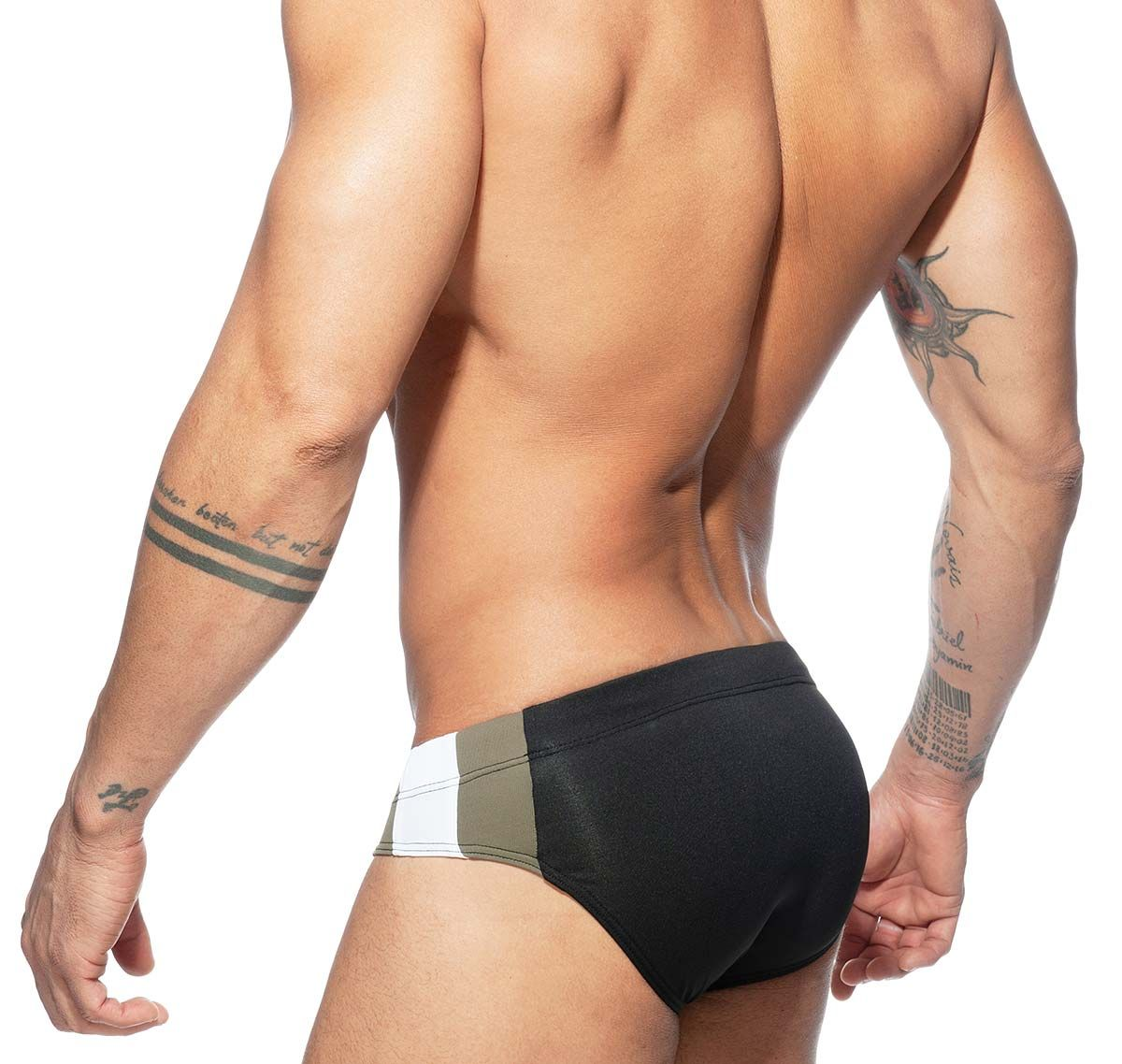 Addicted Slip da bagno Push Up STRIPES BASIC SWIM BRIEF ADS211, nero