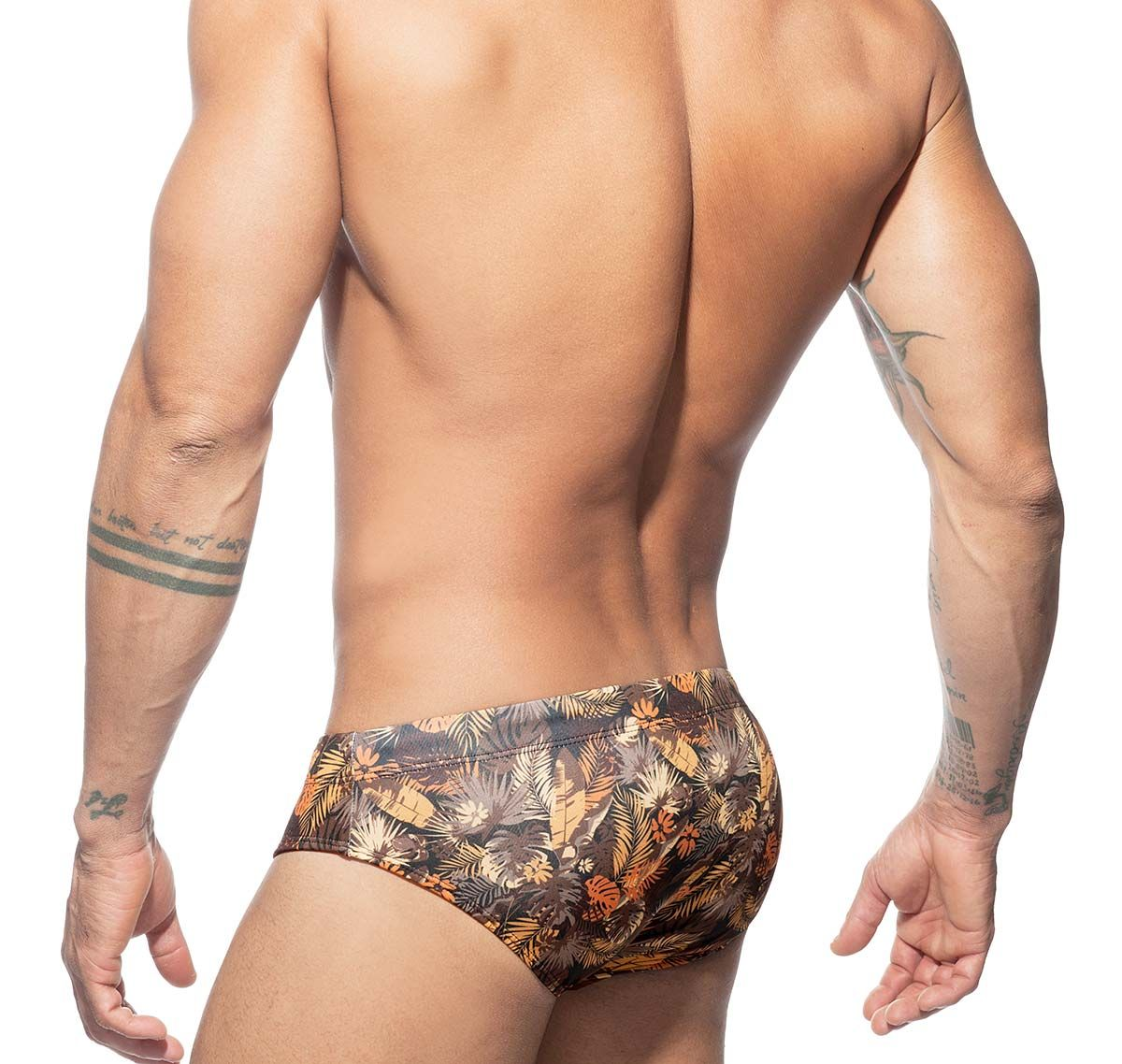 Addicted Slip de baño Push Up LEAVES SWIM BRIEF ADS216, marrón