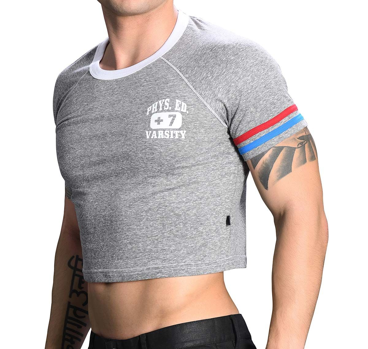 Andrew Christian Camiseta PHYS. ED. CROPPED TEE 10267, gris