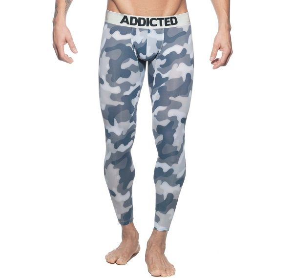 Addicted lange Unterhose BOTTOMLESS CAMO LONG JOHN AD695, camouflage-grau