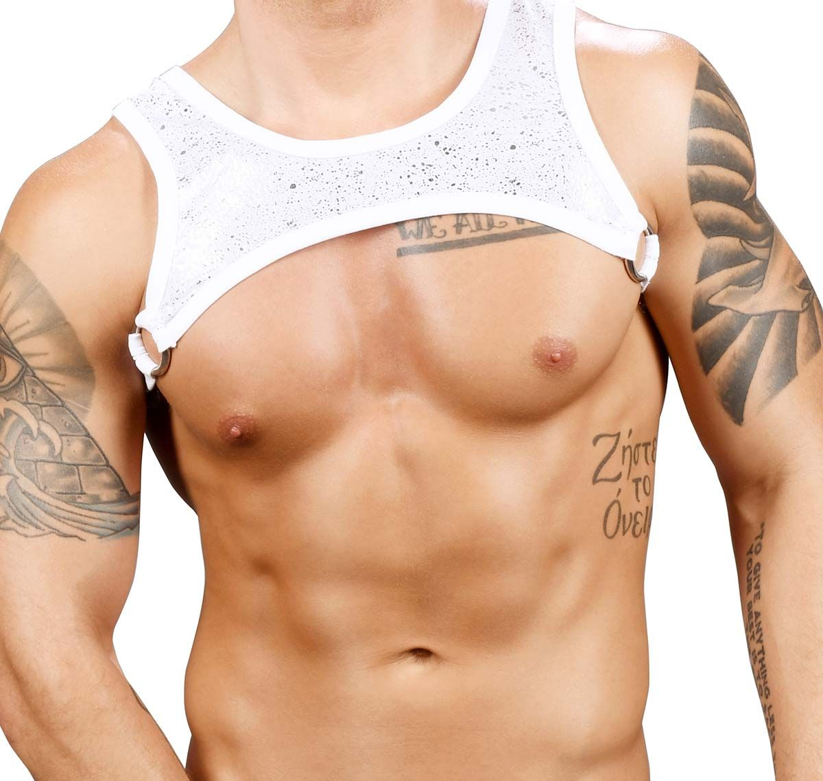 Andrew Christian Harness MASSIVE SNOW RING HARNESS 3167, white/silver