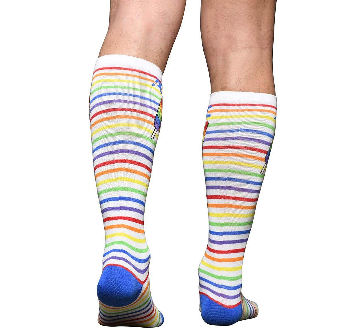 Andrew Christian Calcetines PRIDE STRIPE POPSICLE SOCKS 8471, multicolor
