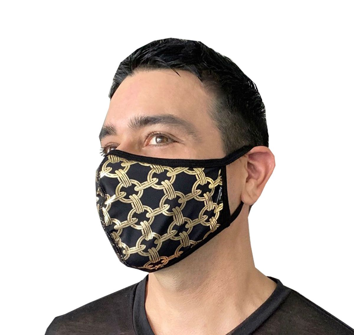 Andrew Christian Face mask CHAIN GLAM MASK 8560, black/gold