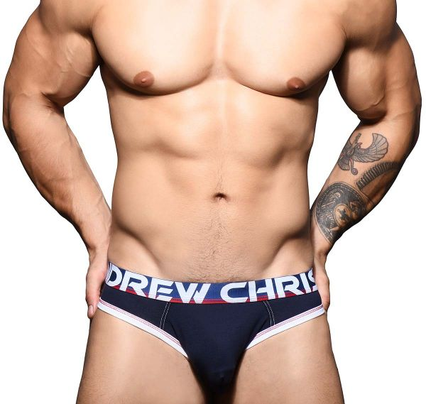 Andrew Christian Jockstrap ALMOST NAKED COTTON LOCKER ROOM JOCK 91617, navy