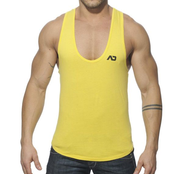 Addicted Tank Top VINTAGE LOW RIDER AD216, gelb