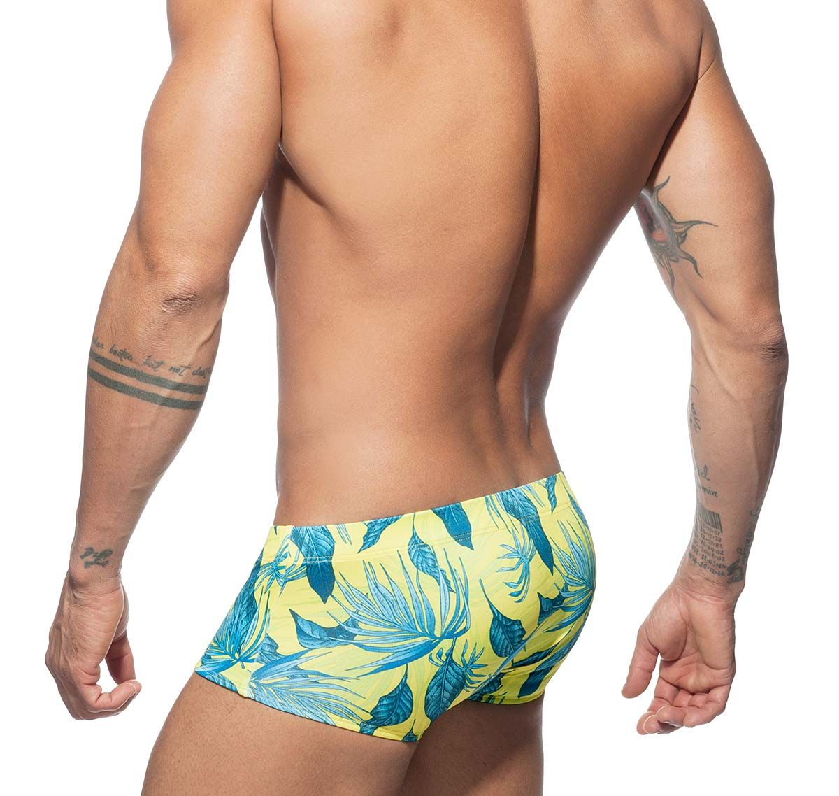 Addicted Push Up Badehipster PLANTS SWIM SUNGA ADS181, gelb