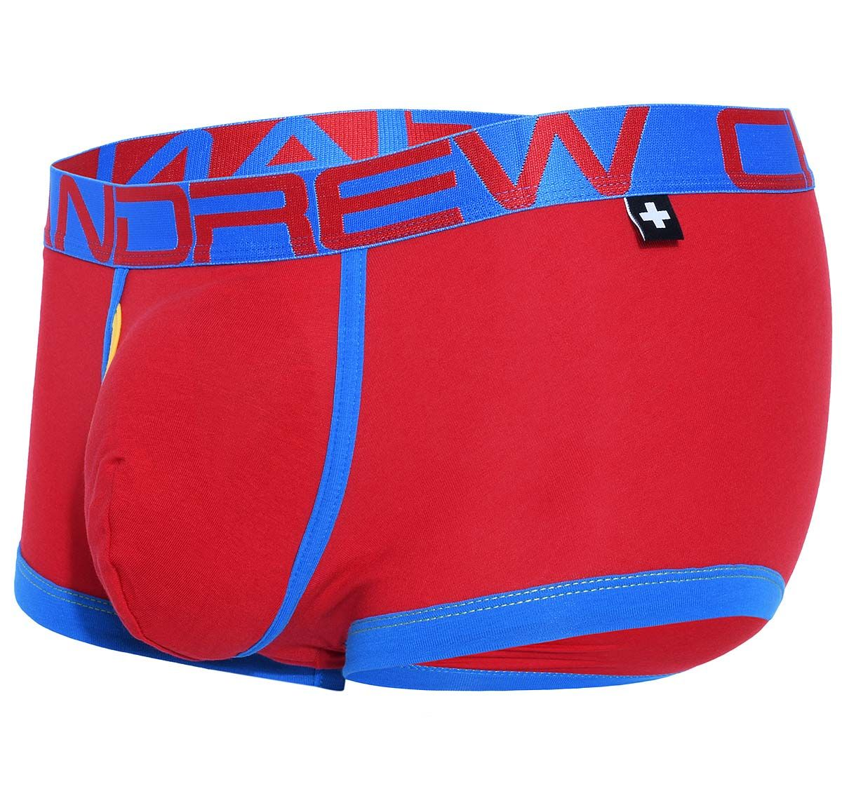 Andrew Christian Boxer FLY Tagless BOXER w/ Almost Naked 91218, rosso