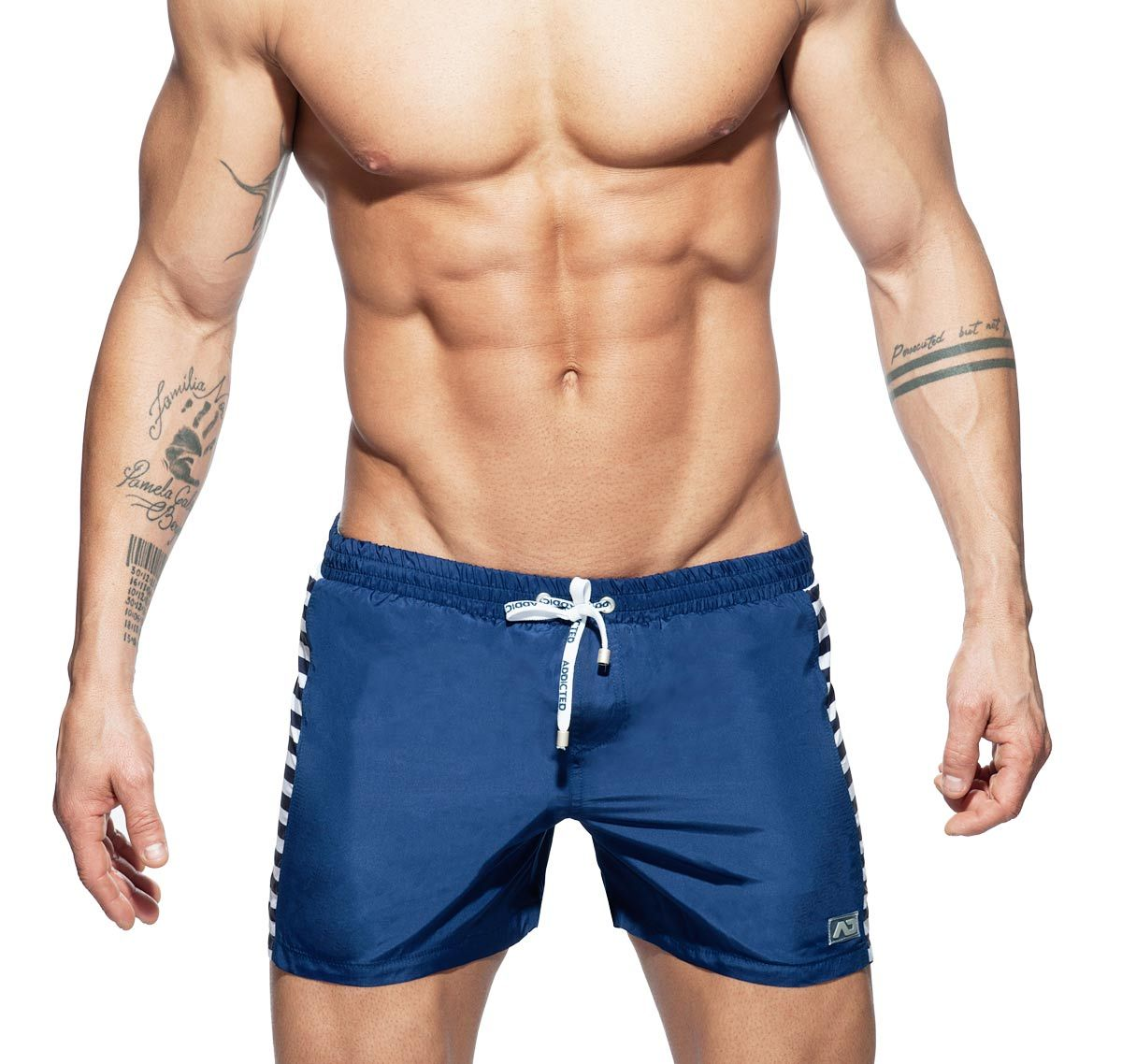 Addicted Badeshorts SAILOR MIX SHORT ADS166, navyblau