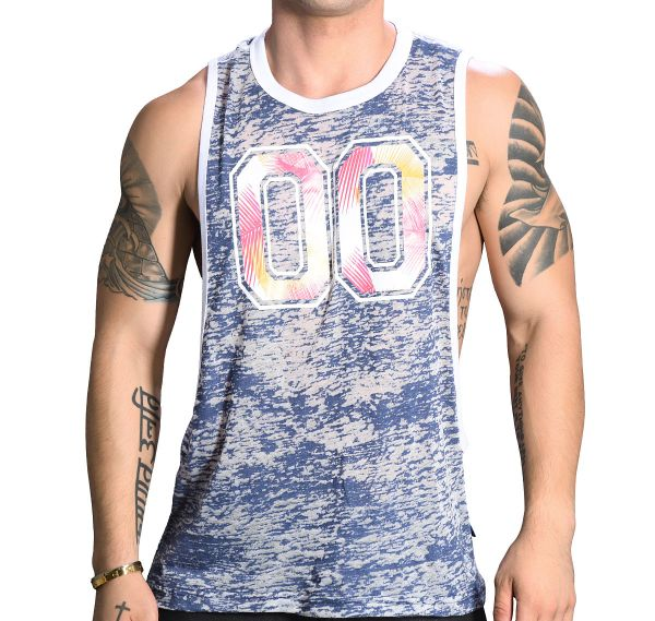 Andrew Christian Tank Top SUMMER GYM TANK 2733, navy