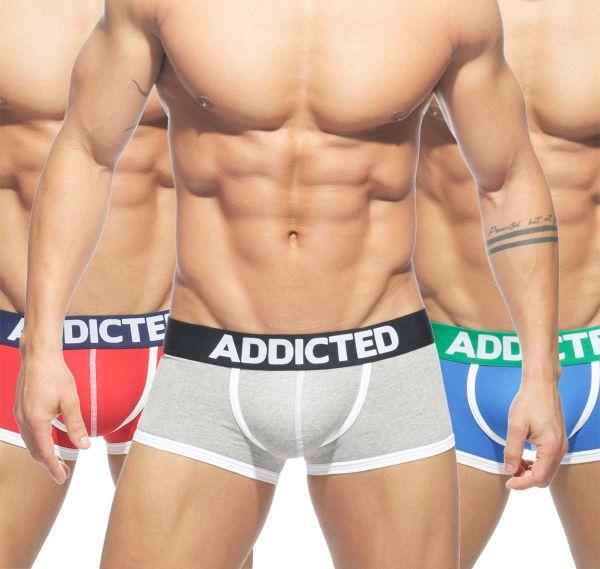 Addicted 3er Pack Boxershorts BASIC AD302P
